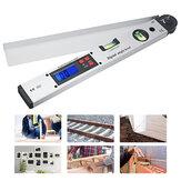 Compteur de niveau d'angle numérique 250 / 400mm LCD affichage 0-225 degrés pour mesurer les angles de toit équipant les fenêtres ou les portes alignant les formes en bois