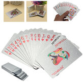 Silver Playing Cards Deck Silver Foil Poker Set Magic Card Waterproof Toys
