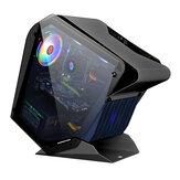 جراب كمبيوتر EVESKY Little Monster RGB معالج M-ATX تبريد بالماء على الوجهين هيكل ألعاب زجاجي شفاف
