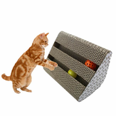 Cat Toy Kitty Scratcher Catnip Scratch Board Incline Scratcher Kitty Toy Dengan Bell Ball
