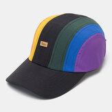 üniseks Rahat Spor Yaratıcı Dikiş Gökkuşağı Beyzbol Şapkası