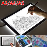 A3 A4 A5 LED ضوء Box Tracing Drawing Board فن التصميم الوسادة Slim ضوءbox USB Projector