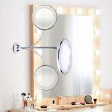 LED Ayna Makyaj Ayna 10X Büyüteç Makyaj Aynası Ayarlanabilir 360 Derece Dönen Esnek Enayi espelho Tıraş Aynası