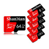 ShanDian High Speed 8GB-256GB Class 10 SD/TF Memory Card Flash Drive With Card Adapter For iPhone 12 Smartphone Tablet Switch Speaker Drone Car DVR GPS Camera