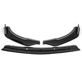 Carbon Fiber Style Front Bumper Lip Spoiler Cover Trim 3PCS For Mercedes E-Class W213 2016-2020