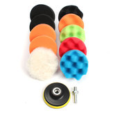 11pcs 3/5/6/7 Inch Waffle Buffer Polishing Pad Set Voor Car Polisher