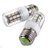 E27 LED ampoules 12v 3w 27 cms 5050 de lumière blanche de maïs / blanc chaud