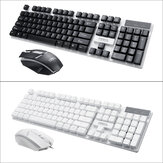 104 Keys USB Wired Gaming Keyboard and 2400 DPI Gaming Mouse Set RGB Backlight for Laptop Computer PC