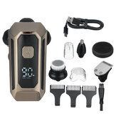 5 IN 1 6D Rotary Electric Shaver USB Rechargeable Bald Head Shaver IPX7 Waterproof LED Display