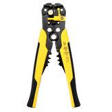 DANIU多機能黄色自動ワイヤーストリッパー圧着プライヤー端子工具ストリッピングワイヤーケーブルを切断するため