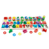 Wooden Math Puzzle Toys Numbers Mathematical Geometry Learning Kid Hand-Eye Coordination Educational Games