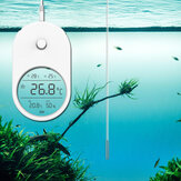3 In 1 Electronic Aquarium Water Thermometer Hygrometer LCD Display Water Temperature Mini Adhesive With Probe Fish Tank Home High Accuracy Thermometer Hygrometer Fish Tank Accessories