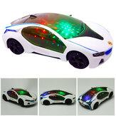 Nouvellement super voiture clignotant LED lumière musique son jouets électriques voitures éducatifs enfants cadeau
