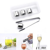 Xiaomi Circle Joy 4Pcs/set  Ice Cubes 304 Stainless Steel Reusable Chilling Cool Ice Mold For Whiskey Wine