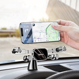Baseus Horizontal Direct-view Gravity Linkage Verrouillage automatique Tableau de bord Support de téléphone de voiture pour téléphone intelligent 4,7 pouces-6,5 pouces pour iPhone 11 pour Samsung Note 10 Redmi Note 8 Pro