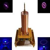 Música Tesla Coil Acrílico Shell Arc Plasma Alto-falante Transmissão Sem Fio Experimental Desktop Brinquedo Modelo Ouro