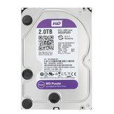 WD Purple Surveillance 2TB 3.5 inch HDD Hard Disk Drive for NVR Desktop Internal SATA 64MB Cache