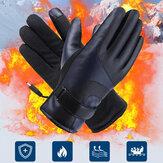 Pantalla táctil de calefacción de carga USB unisex al aire libre Eléctrico de invierno Coche Montar Mantener caliente Waterptoof Cuero a prueba de viento Guantes