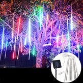 Impermeable Solar Accionado 50cm 8 Tubos LED Meteor Shower Rain Garden Tree HoliDay Light