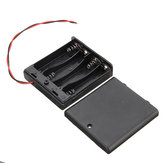 5 stk. 4 Slots AA Batteriboks Batteri Holder Board med Switch til 4xAA Batterier DIY Kit Case