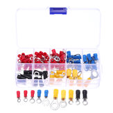 102 STKS 10 soorten RV Ring Terminal Elektrische Crimp Connector Kit Set Met Doos Koperdraad Geïsoleerde Cord Pin End Butt
