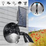 6 LED Solar PIR Motion Sensor Flood Spot Light Wall Garden Rotating