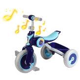 Детский трехколесный велосипед, портативная детская коляска, трехколесный велосипед, детский велосипед с музыкальным динамиком для 2-6 лет