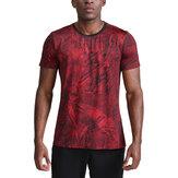 メンズスポーツTシャツ速乾性通気性カジュアルスポーツ半袖TシャツフィットネスランニングバスケットボールアウトドアスポーツハイキングスポーツTシャツ