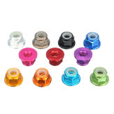 Suleve™ M3AN7 10Pcs M3 Flange Nylon Nut Self-locking Nut Multi-color Aluminum Alloy
