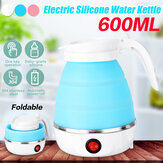600ml Portable Foldable Electric Silicone Water Kettle Travel Water Pot