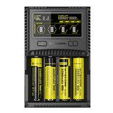 लगभग सभी बैटरी के लिए Nitecore SC4 एलसीडी डिस्प्ले USB रैपिड इंटेलिजेंट Li-ion / IMR / LiFePO4 / Ni-MH बैटरी चार्जर