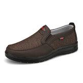 Erkekler Rahat Giyilebilir Nefes Kumaş Elastik Rahat Yürüyüş Ayakkabıları Üzerinde Kayma