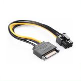 BAYNAST SATA câble d'alimentation SATA 15 broches à 6 broches carte graphique vidéo adaptateur convertisseur de câble