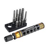 8Pcs RJX RJX3045BK 1/4 Zoll 6,35 mm Länge 50 mm Torx-Kopf-Elektroschrauber 7017083/T10/T15 / T20/T25 / T27 / T30/T40 Bitspitze mit Griff