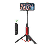 BlitzWolf® BW-BS10 All In One Portable bluetooth Selfie Stick Hidden Phone Clamp dengan Tripod yang Dapat Ditarik
