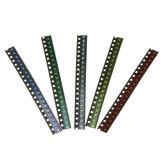 1000 قطع 5 ألوان 200 كل 0603 LED ديود تشكيلة smd LED ديود كيت أخضر / أحمر / أبيض / أزرق / أصفر
