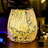 3D üveg elektromos aromaterápiás lámpa repedésminta Colorful fények otthoni aromaterápiás gép