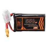 ZOP Power 7.4V 550mAh 100C 2S Lipo Battery XT30 Plug for RC Racing Drone