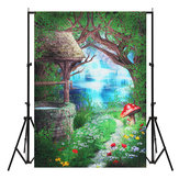 5x7ft Vinyl Fairy Tale Houwse Photographie Fond d&# 39;écran Fond Studio Photo Prop