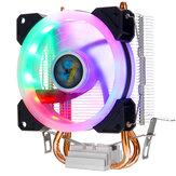 Cpu Cooler 2 Heatpipe 4 دبوس RGB مروحة التبريد ل انتل 775/1150/1151/1155/1156/1366 AMD