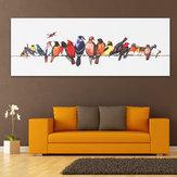 Colorful Reproductions sur toile de bois tendu sur des oiseaux Peinture murale Art Décor à la maison Peinture encadrée
