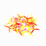 10 Pairs LDARC 5040 5x4x3 3-Blade CW CCW Clear Single Color Propellers for RC Drone FPV Racing
