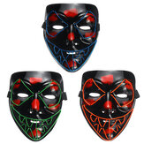 Skeleton Mask EL Wire Light Up Skull Mask for Halloween Costume Accessory