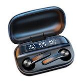 Lenovo QT81 TWS bluetooth 5.0 słuchawki LED wyświetlacz mocy 1200 mAh HiFi Stereo Bass wodoodporny sportowy zestaw słuchawkowy z mikrofonem