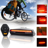 BIKIGHT 85LM Bike Tail Light USB Wireless Traseira da bicicleta LED Light Controle Remoto Turn Signal Laser Outdoor Cycling