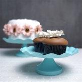 3 grootte blauwe ronde taart Cupcake Stand voetstuk dessert houder bruiloft decoraties