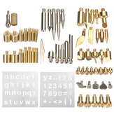 57PCS Wood Burning Tools Kit Craft Soldering Pyrography Art Pen Brass Tips