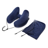 Travel Pillow H Shape Folding Inflatable Cushion Neck Rest With Detachable Hat
