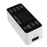 8 Многопортовый USB-адаптер LCD Дисплей Настенное зарядное устройство Smart Quick зарядная станция QC3.0