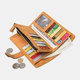 Women 23 Card Slots Crocodile Pattern Long Wallet Purse Phone Bag